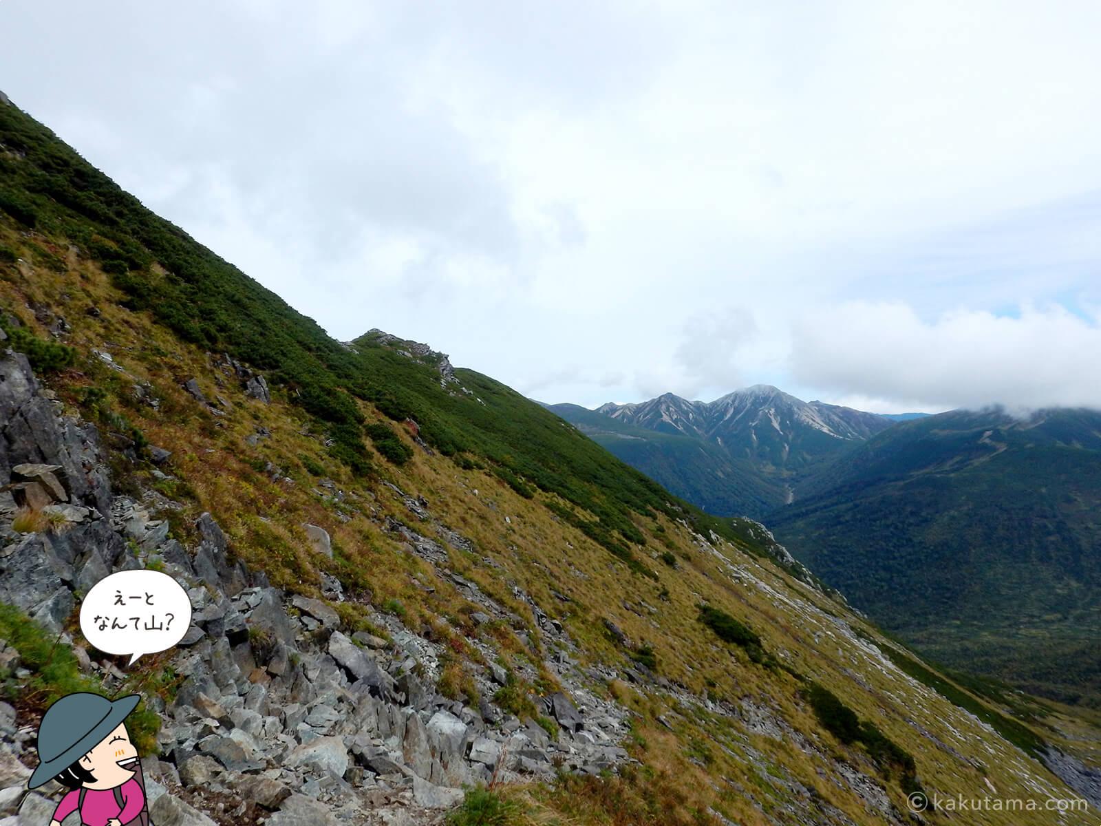 黒部五郎岳のゴーロを下る2