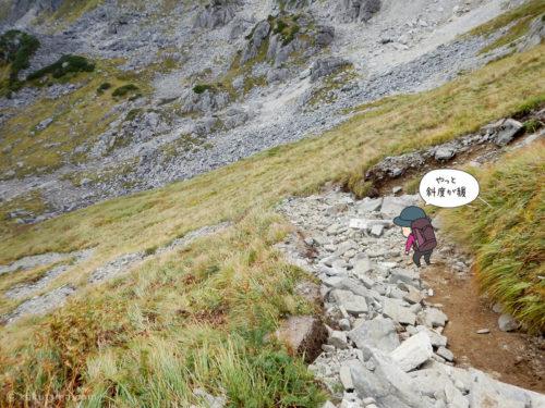 黒部五郎岳のゴーロも終わり2
