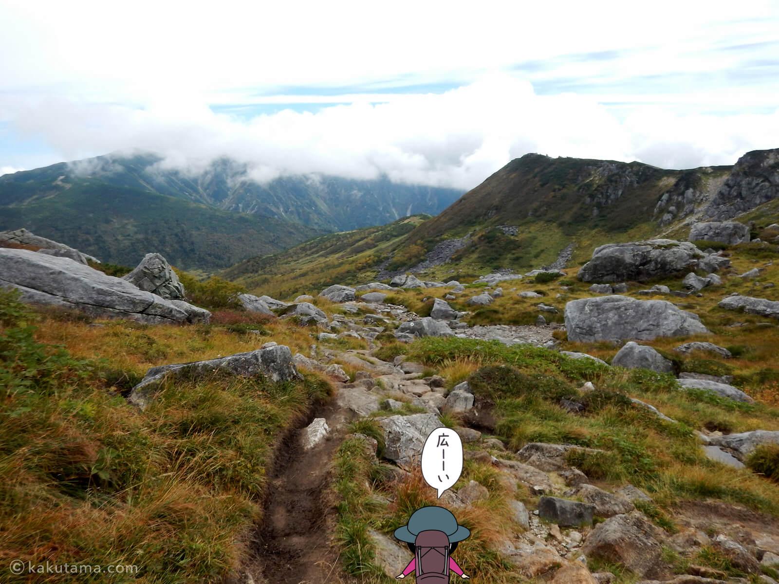 広がる登山道2
