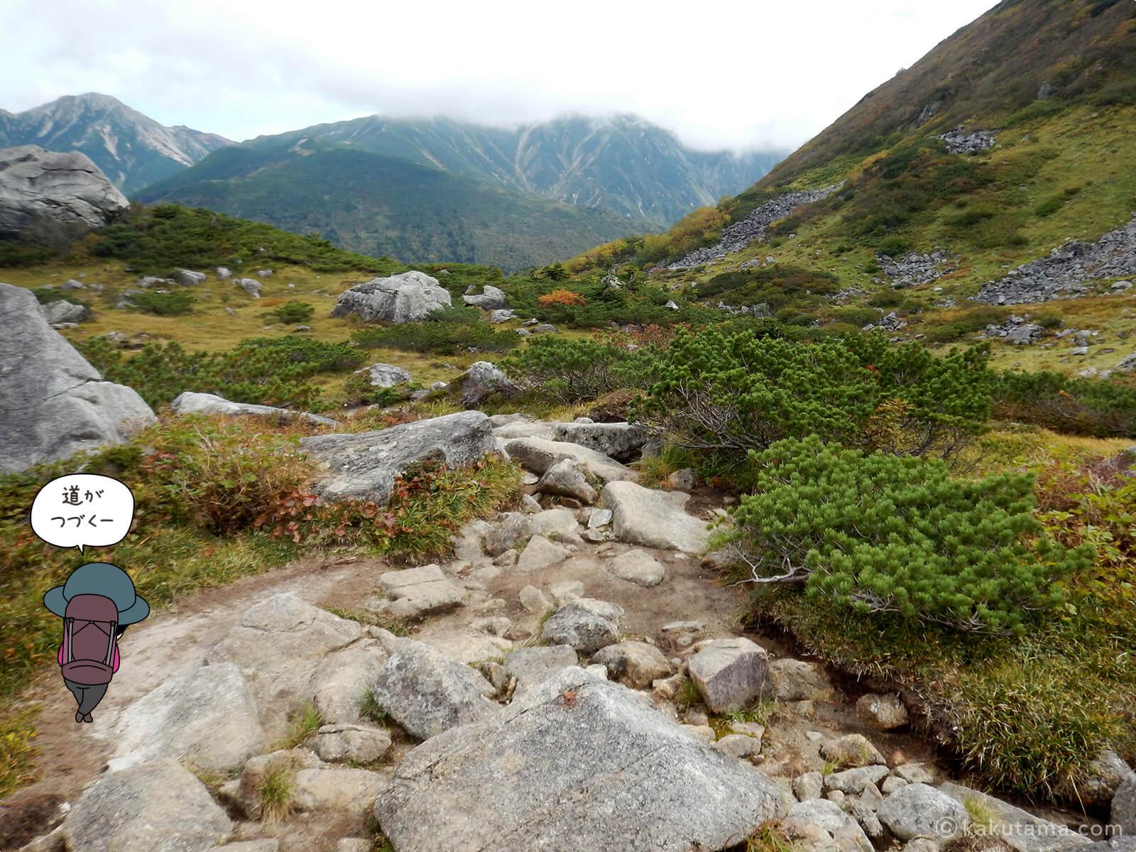 広がる登山道3