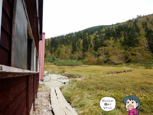 黒部五郎小屋外トイレ付近の写真