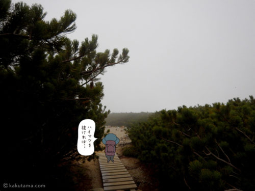 三俣山荘へ2
