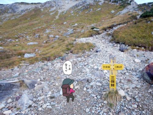 三俣蓮華岳への分岐点