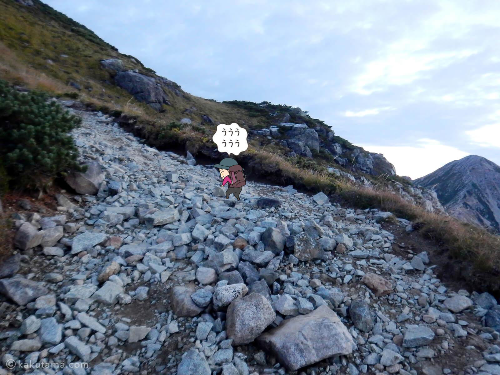 岩だらけの登山道2