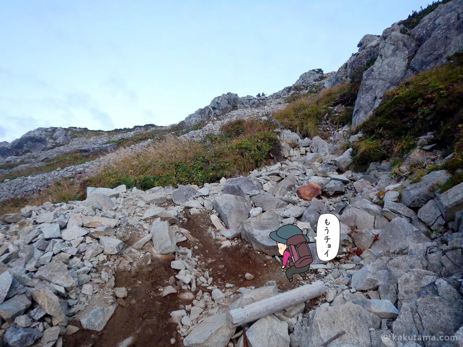 岩だらけの登山道3