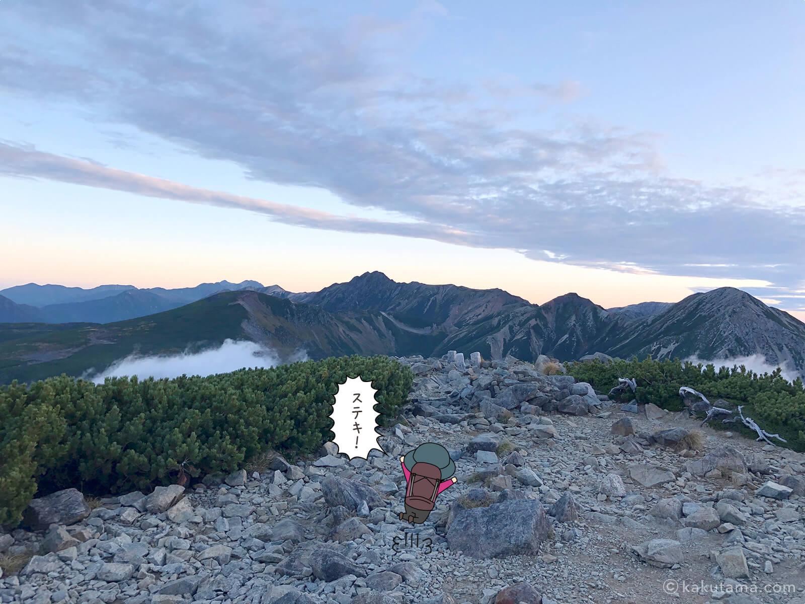 三俣蓮華岳からの眺め1