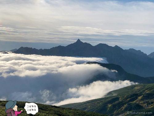雲海と槍ヶ岳