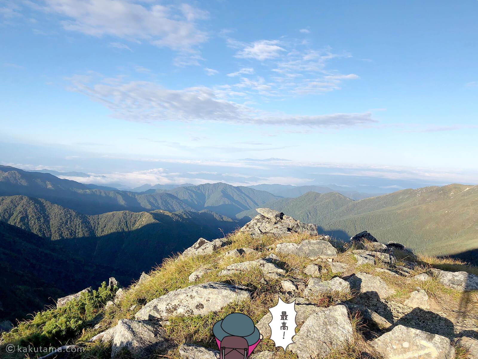 双六岳からの景色