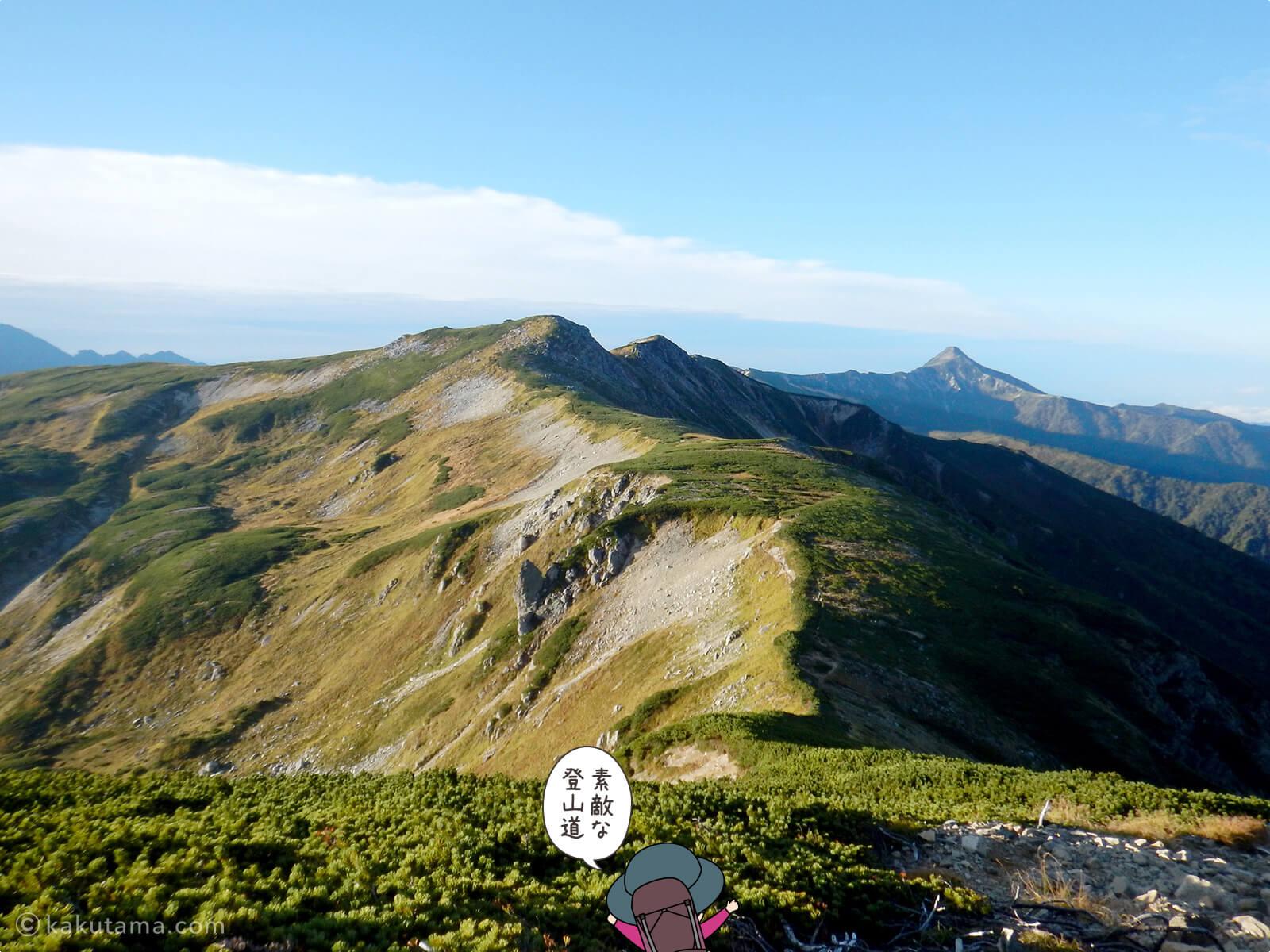 双六岳へ進む3