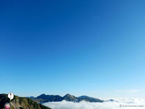 晴天下の双六岳