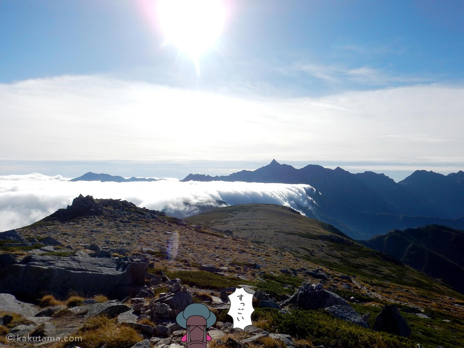 双六岳からの景色3