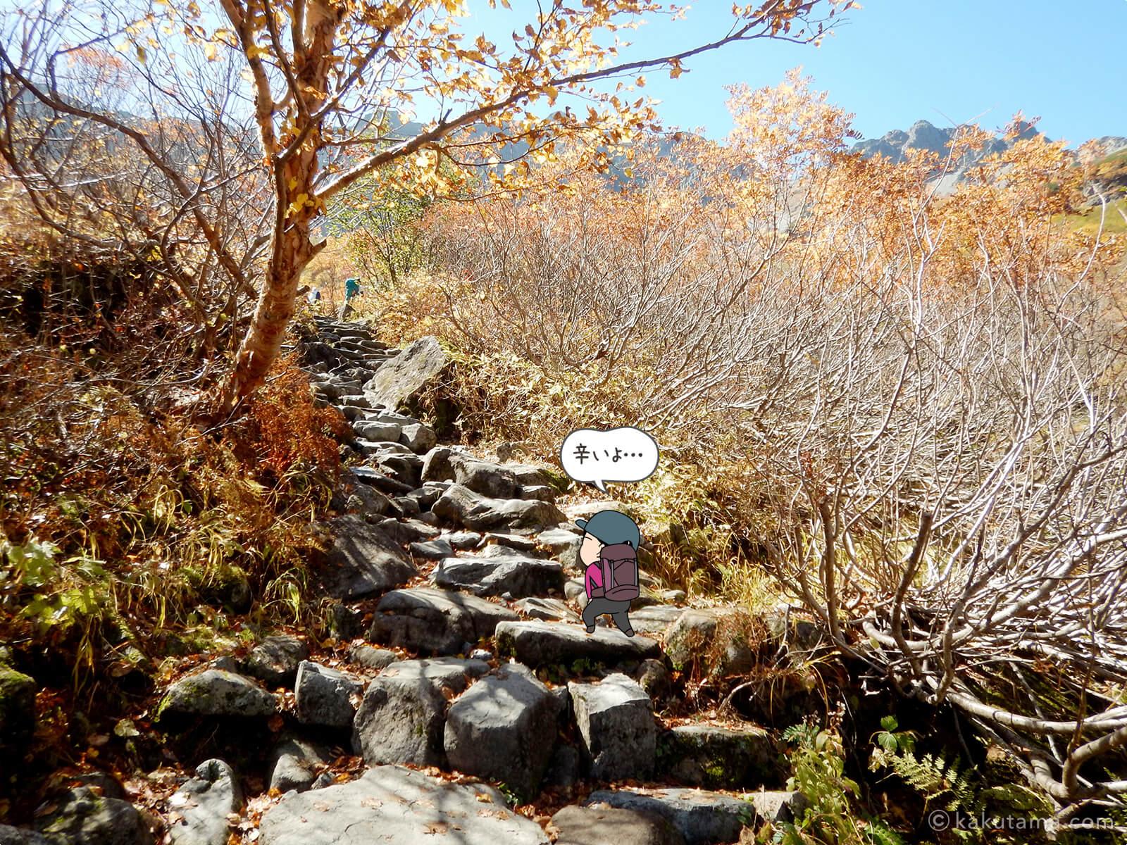 涸沢へ向かって登る6