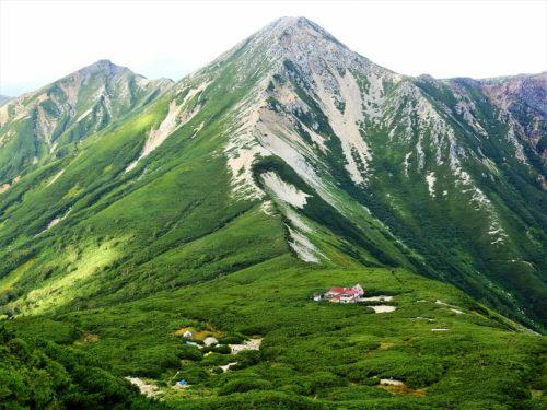 PhotoACから借りた三俣山荘テント場の写真