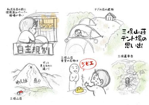 三俣山荘の思い出スケッチ