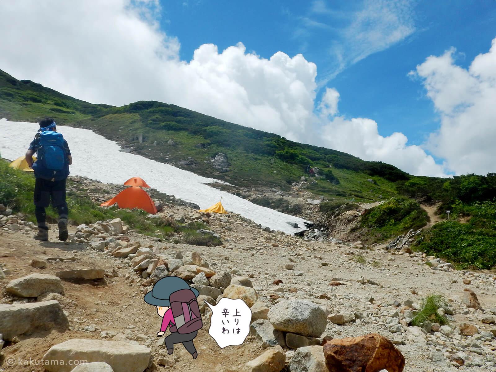 三俣山荘のテント場1