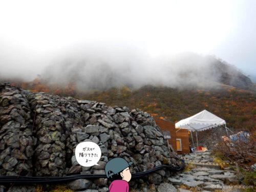 涸沢テント場とガス