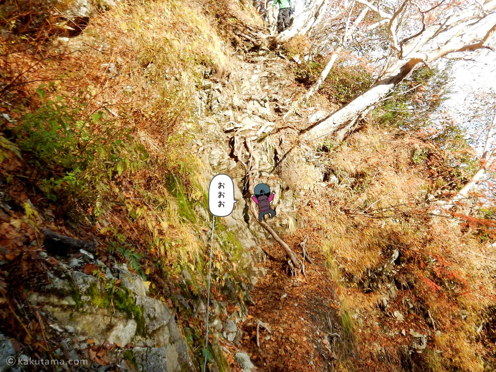 垂直な岩場