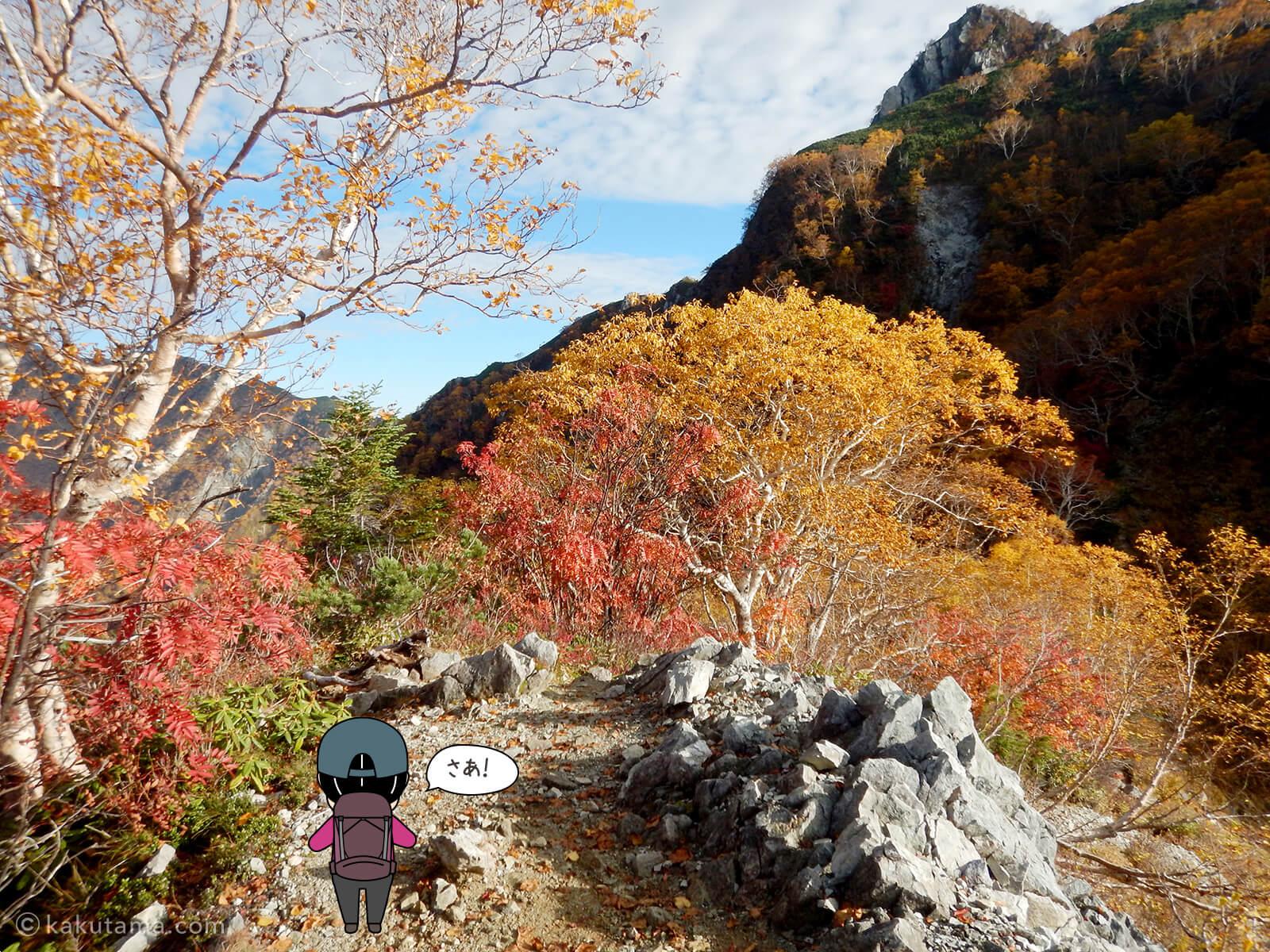 屏風岩と紅葉3