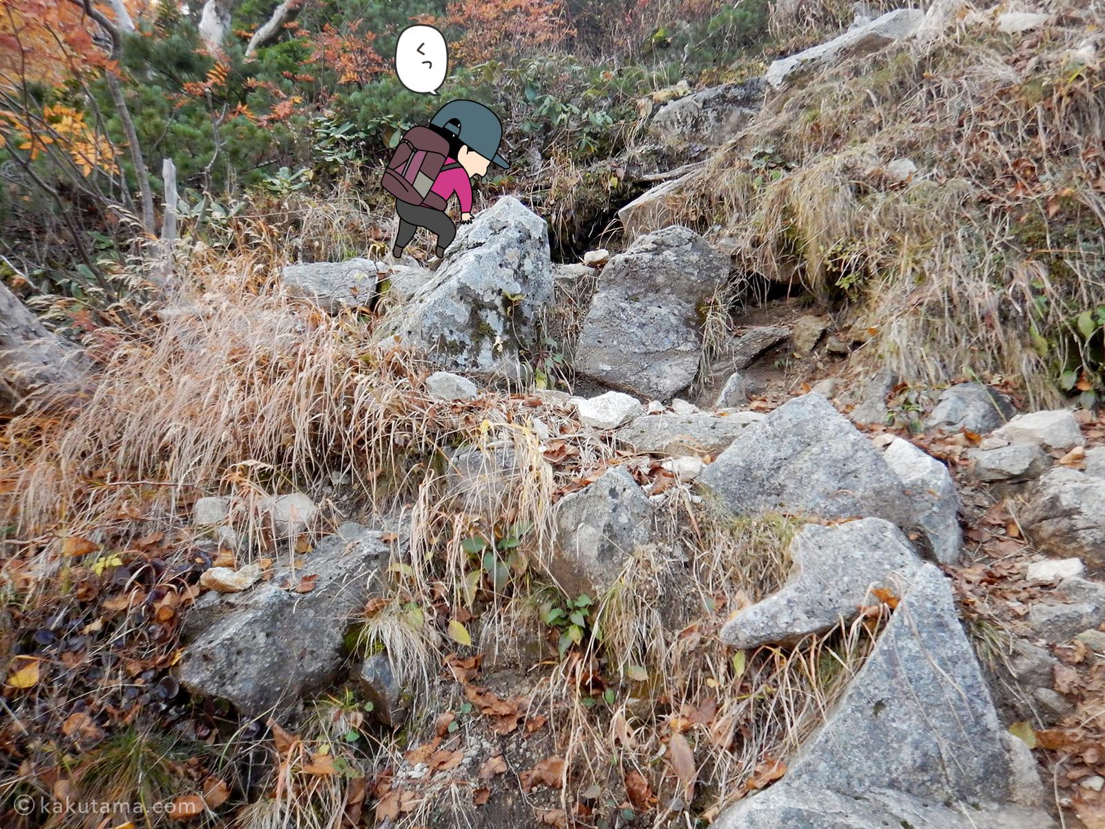 岩道の急登2