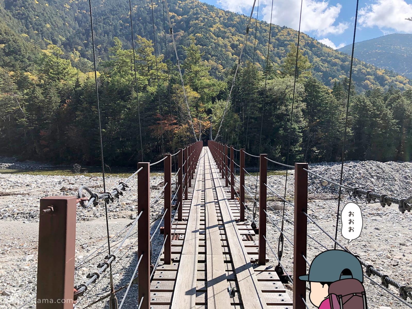 新村橋を渡る