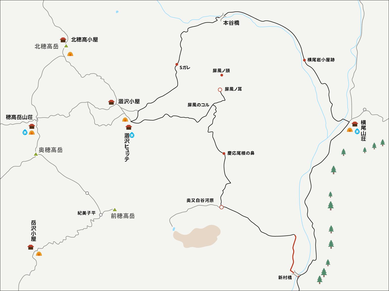 新村橋へのイラストマップ