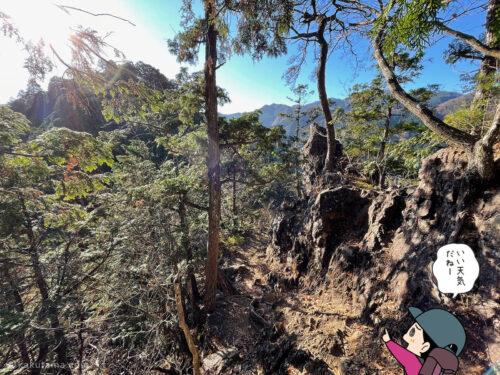 登山道を見る