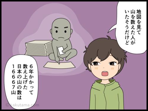 山の雑学日本には山はいくつあるの漫画