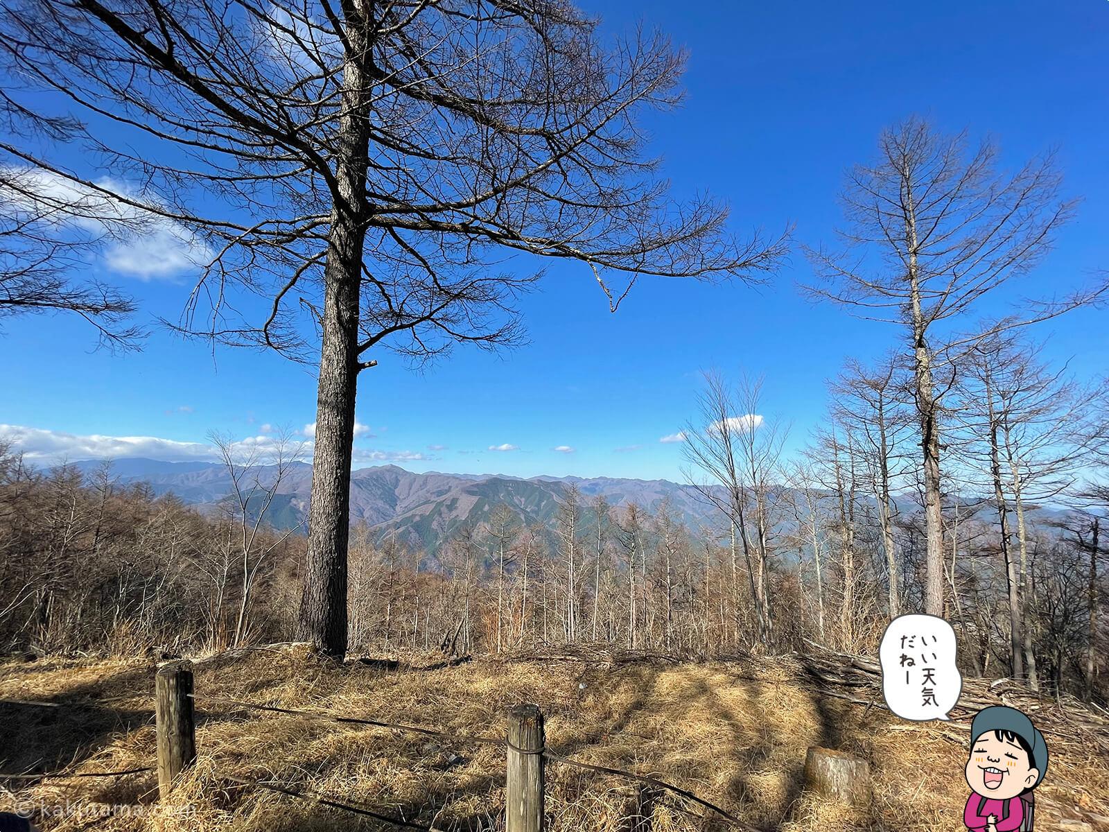 御前山山頂からの眺め