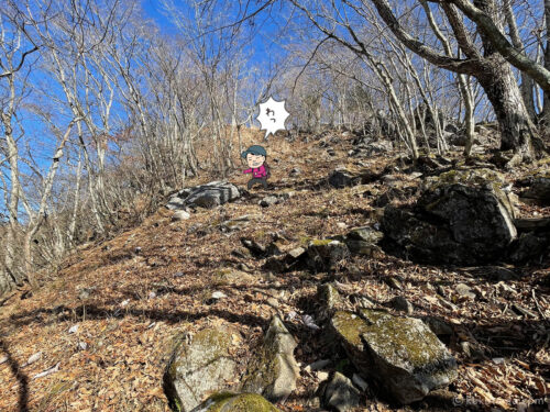 岩場の下り1