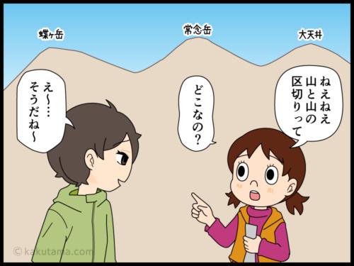 山の雑学(004)山と山の境目は?に関するマンガ