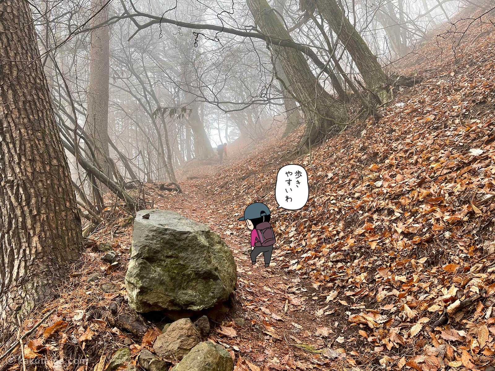 表三ツ峠コースを登り始める2