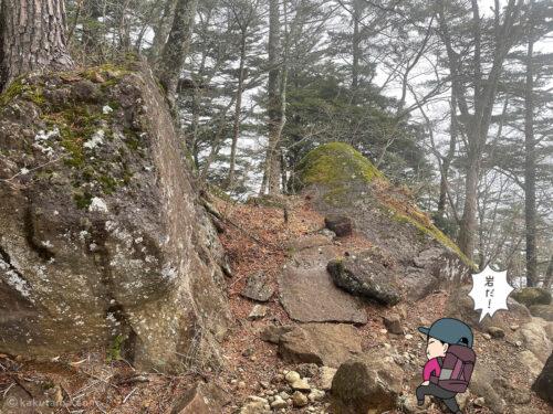 岩が多くなってきた