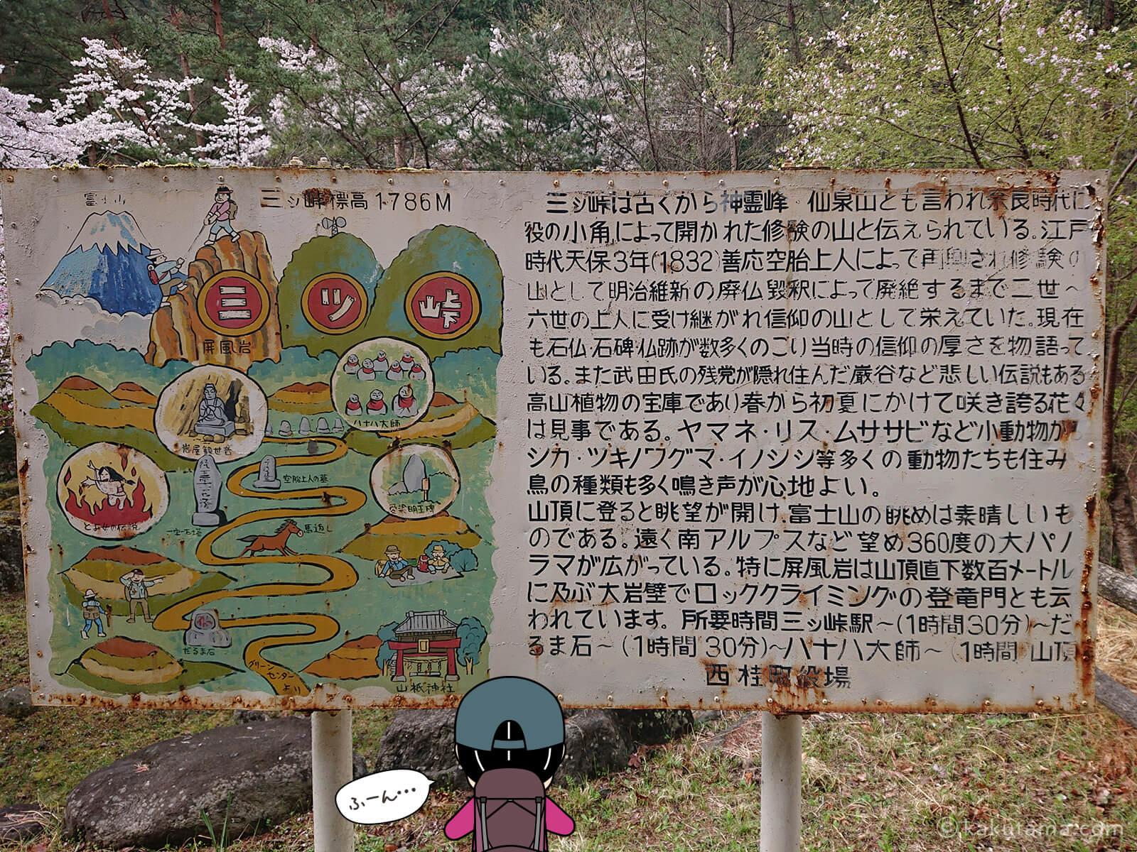 三ツ峠山の説明2