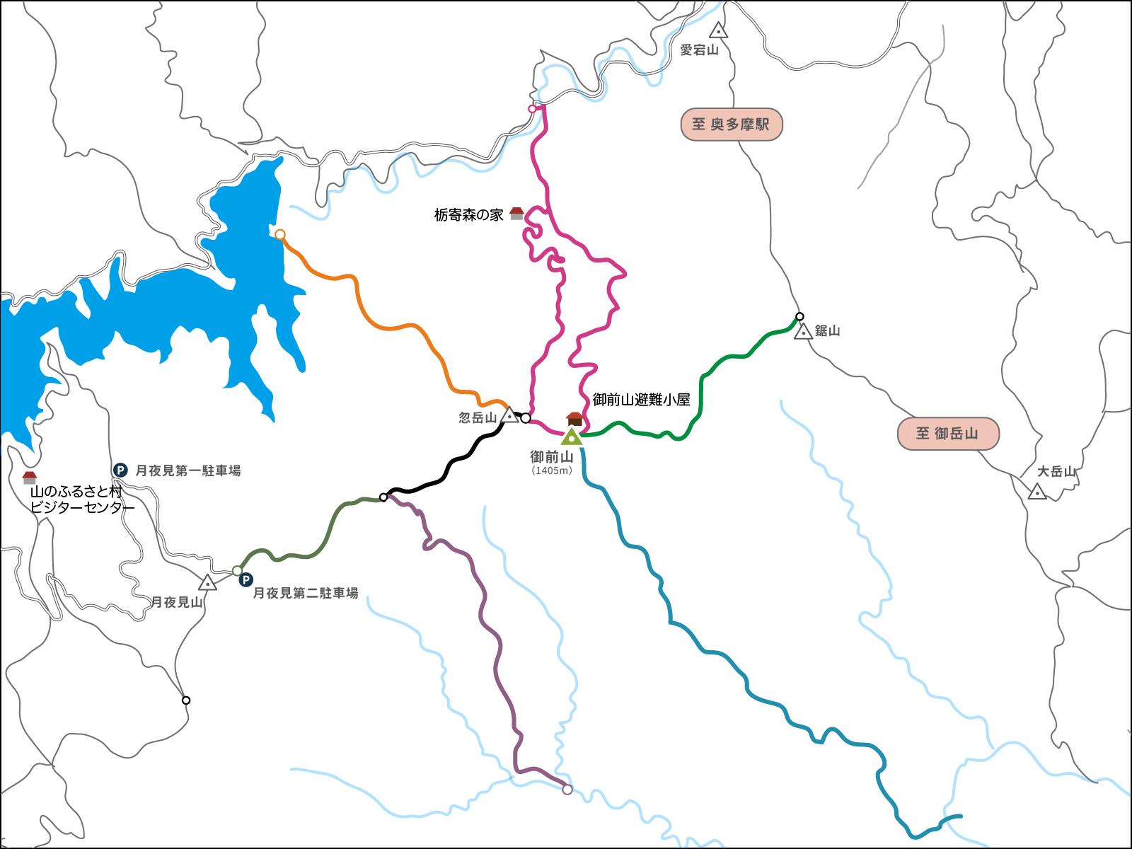 御前山のコースマップ
