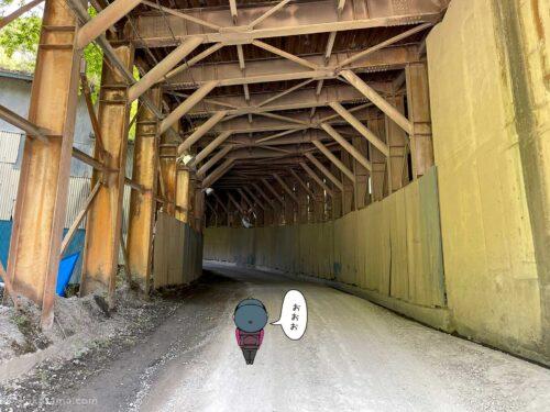 大岳山鍾乳洞手前のトンネル2