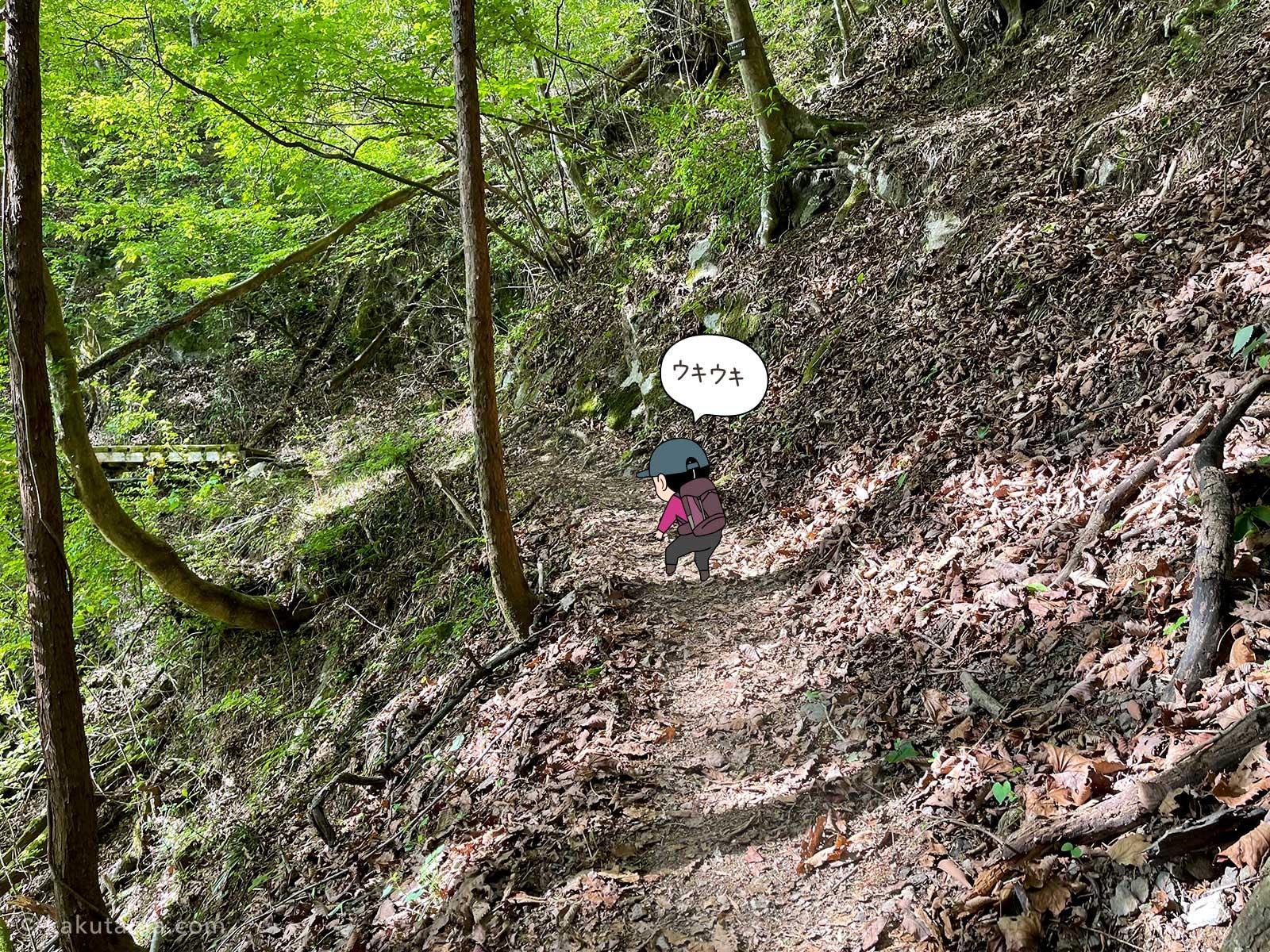 大岳鍾乳洞コースを登る1