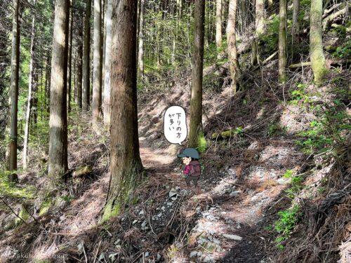 大岳鍾乳洞コースを登る5