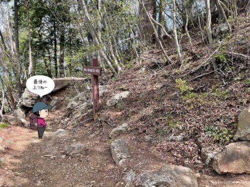 大岳山への標識
