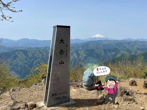 大岳山山頂に到着