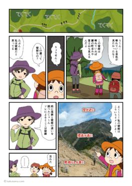 稜線の意味がわからなくなっている登山者の漫画