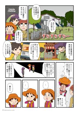 鍋割山荘の鍋焼きうどんの行列にびっくりする登山者の漫画
