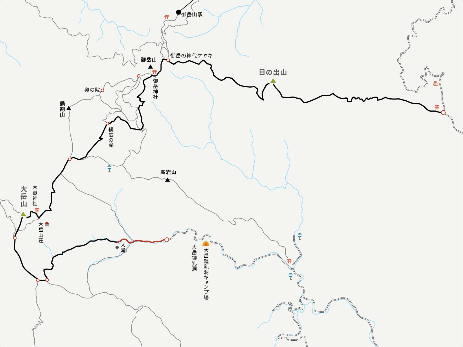 大岳鍾乳洞コースイラストマップ1