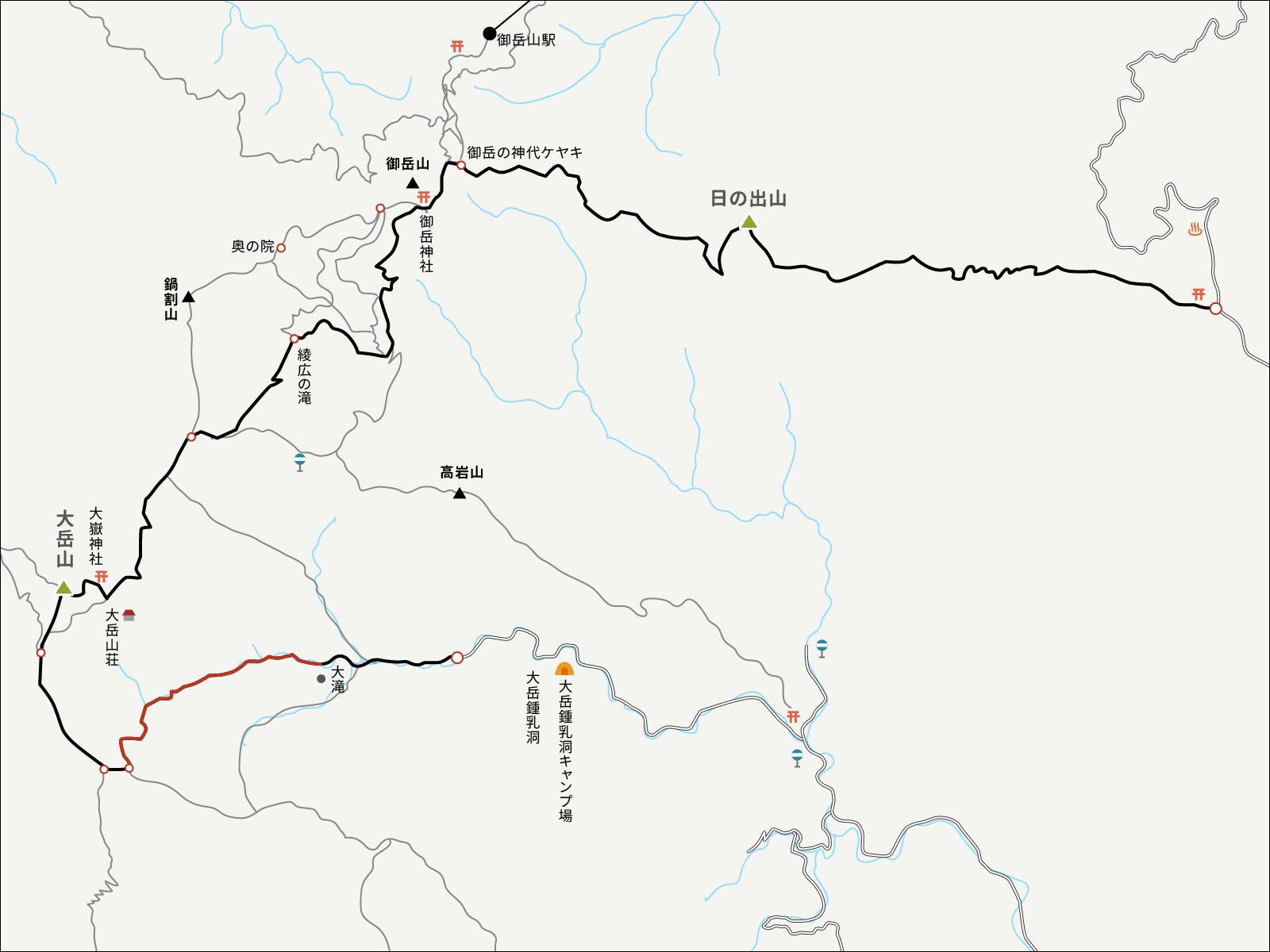 大岳鍾乳洞コースイラストマップ2