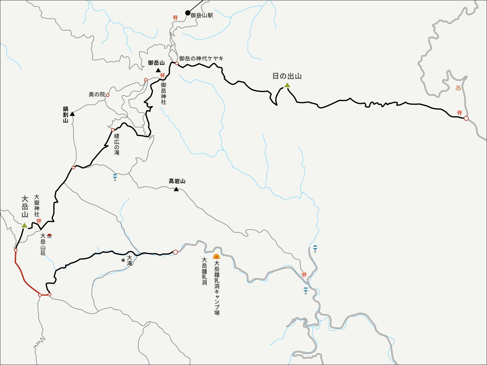 大岳鍾乳洞コースイラストマップ3