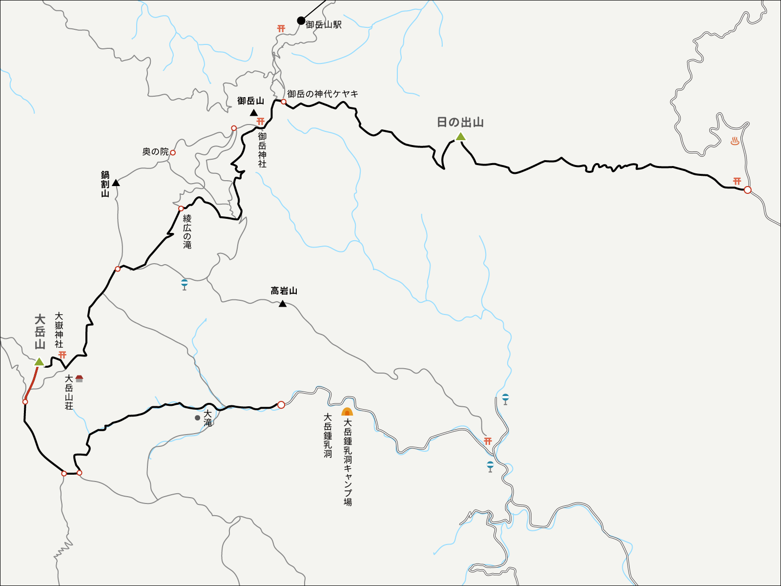 大岳鍾乳洞コースイラストマップ4