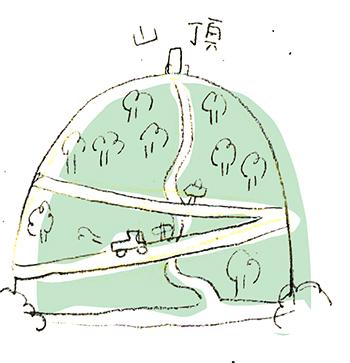 車道のイラスト