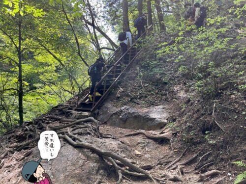 階段ですれ違うのも一苦労