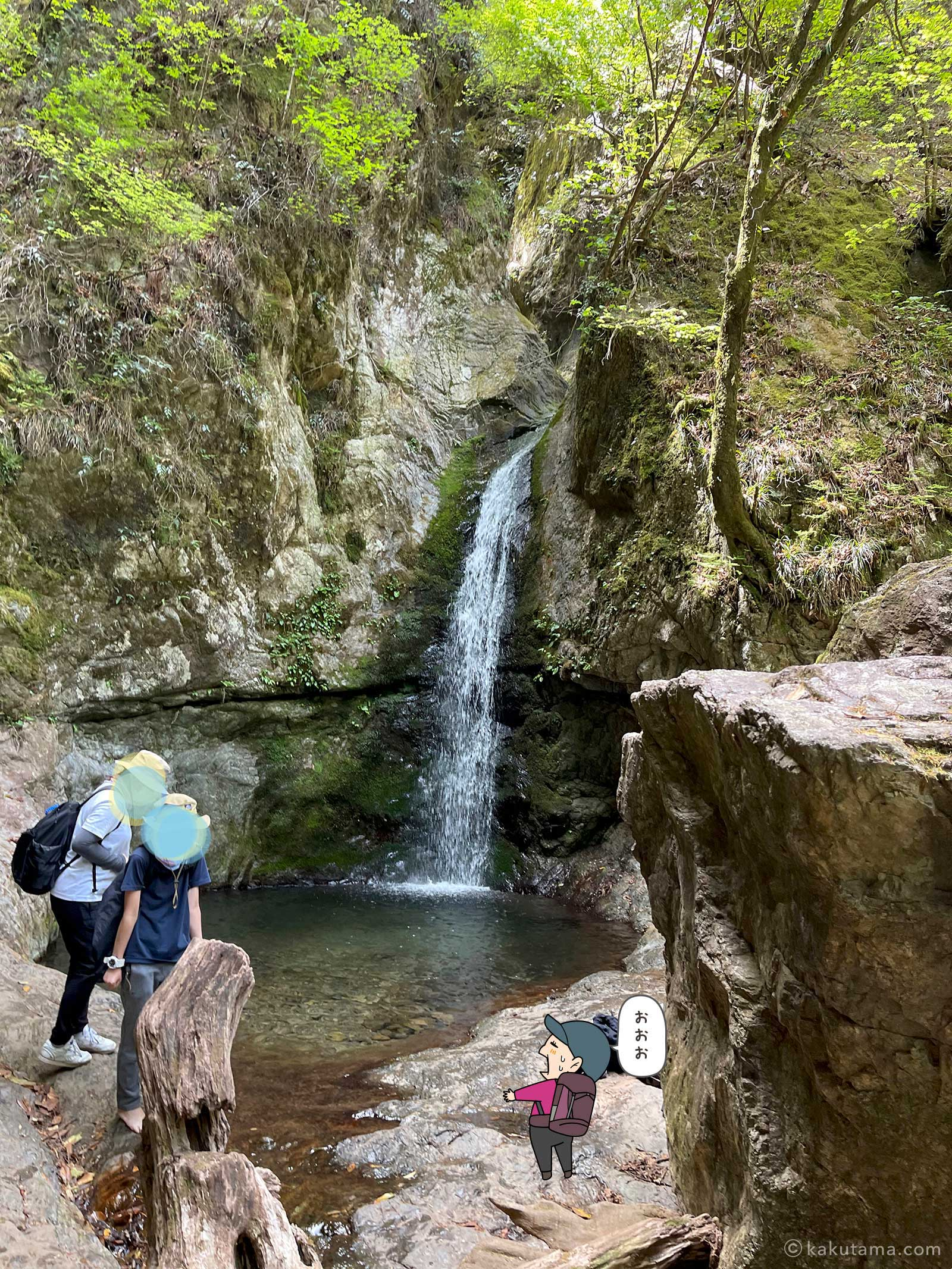 ロックガーデンの滝