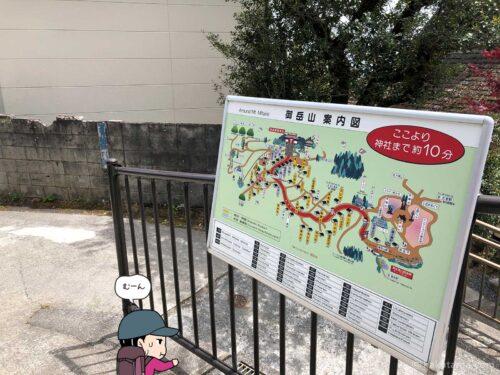 御岳山イラストマップ