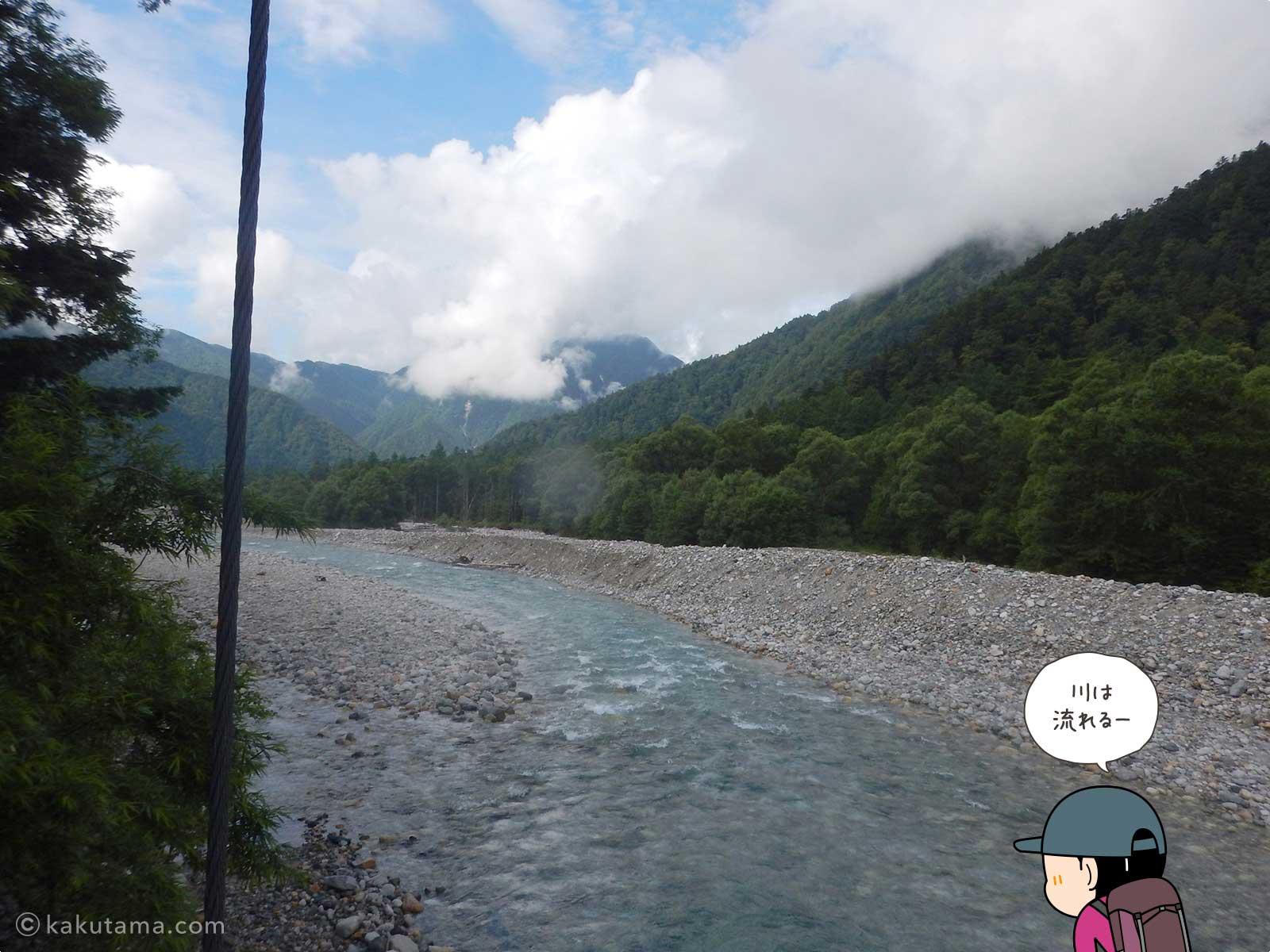 新村橋から梓川を見る